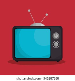 tv retro isolated icon