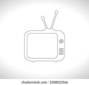 tv retro outline icon