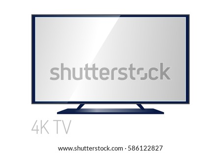 tv screen lcd monitor template electronic stock vector royalty free