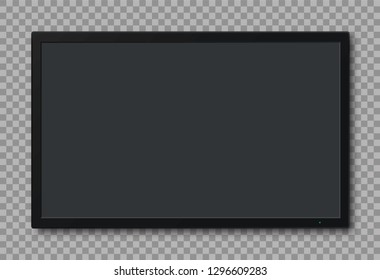 TV screen on transparent background. Vector illustration