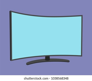 TV screen simple icon isolated. Household appliance. Led or lcd widescreen tv. Modern tv. Flat style. Vector illustration
