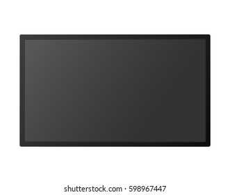 70537fd6ff1 Realistic TV Screen Hanging On Wall Stock Vector (Royalty Free ...