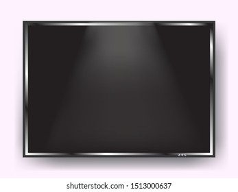 Tv screen. Vector illustration for banner or poster