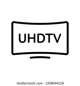 TV set icon. HD IPTV UHD Internet Protocol TV symbol.