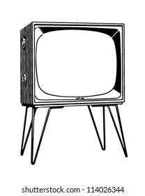 TV Set - Retro Clipart Illustration