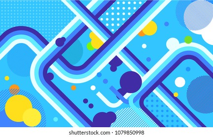 tv show broadcast funky neon vector abstract background. Jazz, disco, party, graffiti, break dance festival. Print, video