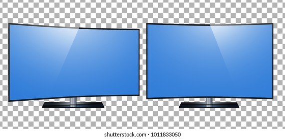 TV - smart TV. 4k Ultra HD screen, led tv isolated on a transparancy background.