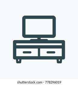 TV stand vector icon