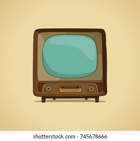 The TV in style of a retro. Vector illustration