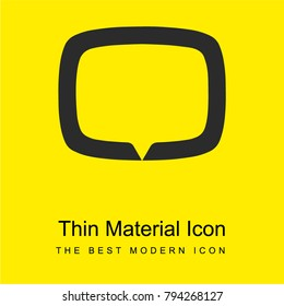 Tv tag logotype symbol bright yellow material minimal icon or logo design