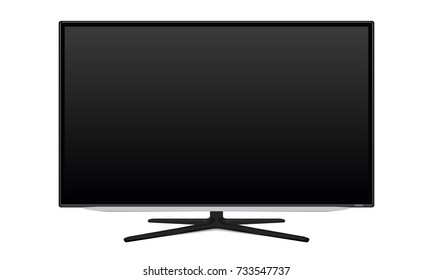 TV, television, blank device screen. LCD, LED monitor isolated transparent vector EPS10