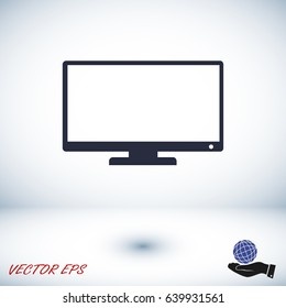 TV vector icon, vector best flat icon, EPS