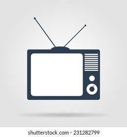 TV vector icon. Flat vector illustrator Eps