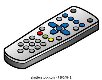 A TV/DVD/set top box remote control.