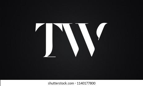 TW Letter Logo Design Template Vector