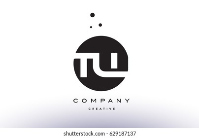 TW T W alphabet company letter logo design vector icon template simple black white circle dot dots creative abstract
