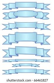 Tweaked Blue Banner Ribbons