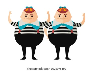 tweedledum and tweedledee alice in wonderland twins brothers