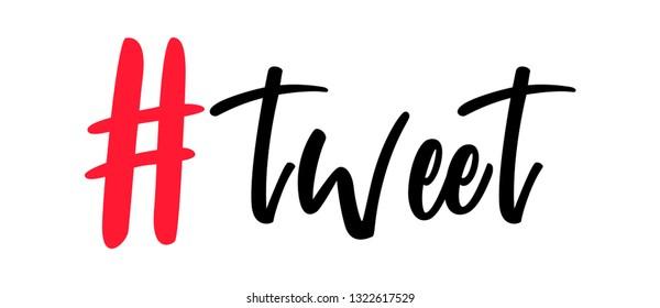 Tweet hashtag symbol. twitter hashtag. Follow us, follow me, like me hashtags. twitter red hashtags for web and mobile app design.