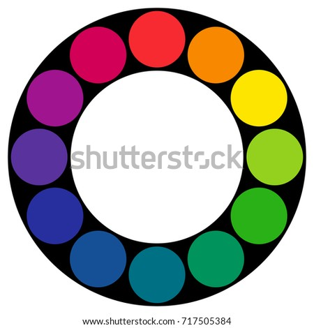 twelve part rgb color wheel composed stock vector royalty free
