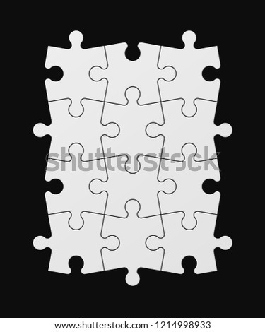 twelve sided square puzzle presentation abstract stock vector