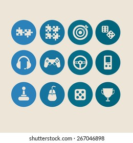 Twelve Vector Game Icons