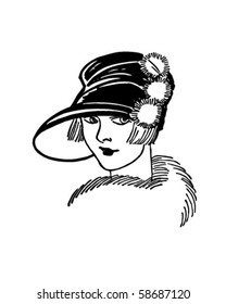 art nouveau lady images stock photos vectors shutterstock 1920s Art Deco Wallpaper twenties gal retro clip art