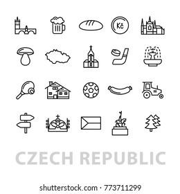 twenty czech republic icons