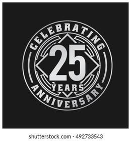 Twenty Five years anniversary celebration logotype.