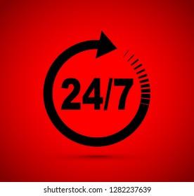 twenty four seven arrow icon