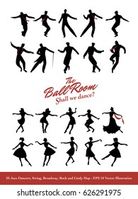 Twenty Jazz Dancers. Swing, Broadway, Rock and Lindy Hop
