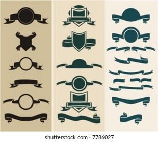 twenty one banner,shield & medallion design