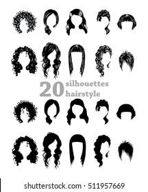 Twenty silhouettes hairstyles