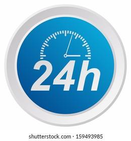 Twenty-four hours, service (GRX btn metallic, blue version)
