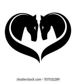 Twin Horse Logo Vector