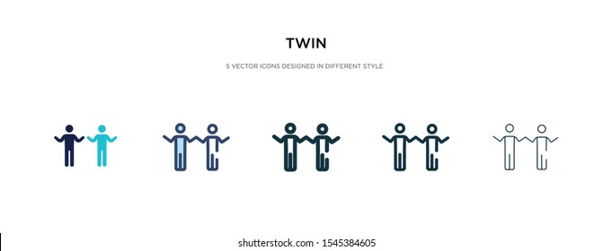 twin icon in different style vector illustration. two colored and black twin vector icons designed in filled, outline, line and stroke style can be used for web, mobile, ui