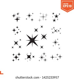 twinkle icon vector template, eps 10