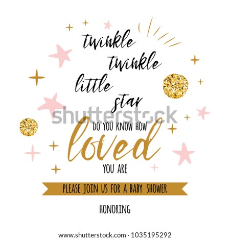 Twinkle Twinkle Little Star Text Cute Stock Vector Royalty Free