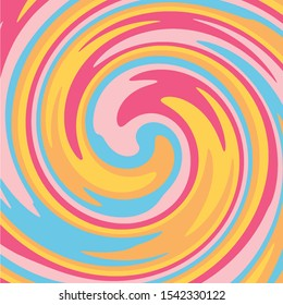 Twirl Twist paint Pastel colors abstract fluid backgrounds Yellow Purple Orange Swirl vortex vector background