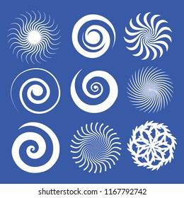 Twist set blue background vector