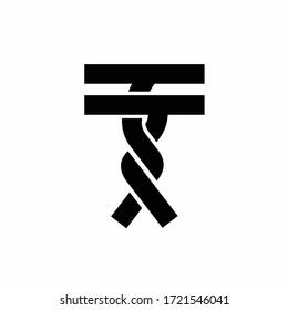 twist vector logo, letter T logo design