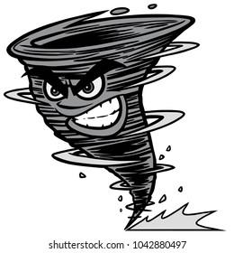 Twister Mascot Illustration - A vector cartoon illustration of a Twister Team Mascot.