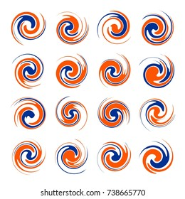Twister Shape Design Element Vector Set