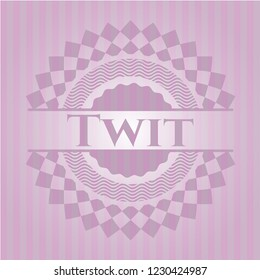 Twit badge with pink background