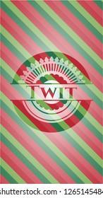 Twit christmas style emblem.