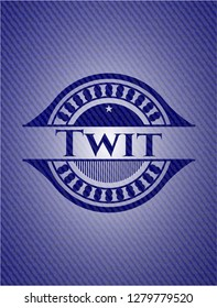 Twit emblem with jean high quality background