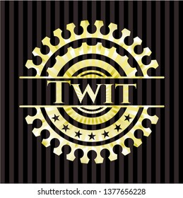 Twit golden emblem or badge