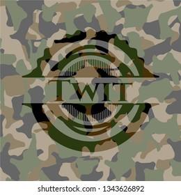 Twit on camouflaged pattern