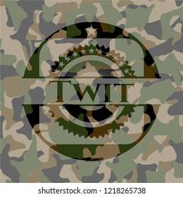 Twit on camouflaged texture