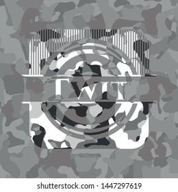 Twit on grey camouflage pattern